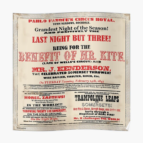 Mr Kite - Victorian Circus Poster Poster