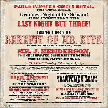 Cartel del circo victoriano de phigment-art