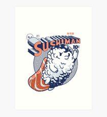 Sushiman - Amoureux des sushis Impression artistique