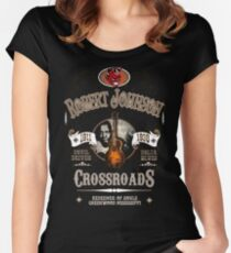 Robert Johnson Devil Driven Delta Blues  Women's Fitted Scoop T-Shirt