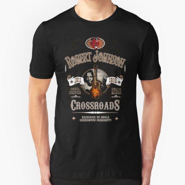 Robert Johnson Devil Driven Delta Blues  Slim Fit T-Shirt