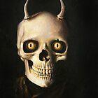 Gothic Horned Devil Skull von mictomart