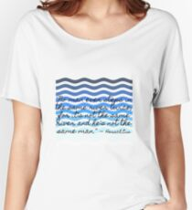 "Big Five - Water: ""No man ever steps into the same river twice..."" Women's Relaxed Fit T-Shirt"