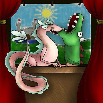 Tiny Dragon Theater 3000 by AnimaMundi113