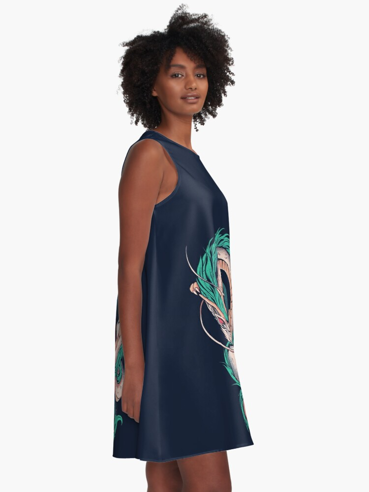 Alternate view of The girl and the dragon A-Line Dress