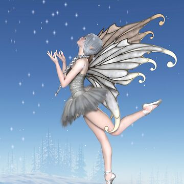 Ballerina Winter Fairy Dancing in the Snow by algoldesigns