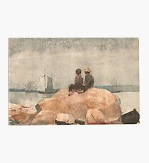 Winslow_Homer_- Two boys watching schooners, 1880 Photographic Print