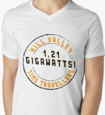 Hill Valley Time Travellers  Men's V-Neck T-Shirt