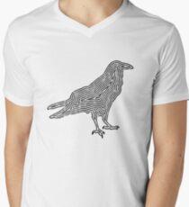 Crow TShirt Minimalist Outline Silhouette   Men's V-Neck T-Shirt
