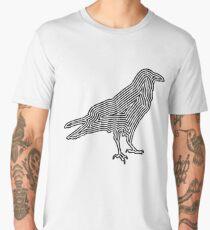 Crow TShirt Minimalist Outline Silhouette   Men's Premium T-Shirt