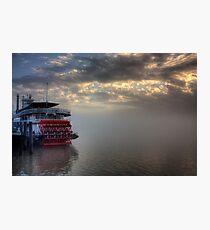 Paddlewheel in Fog Photographic Print