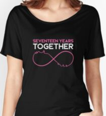 Celebrating the 17th Wedding Anniversary Together T-Shirt Women's Relaxed Fit T-Shirt