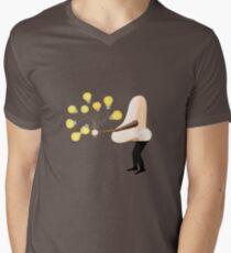 Nase für Ideen T-Shirt mit V-Ausschnitt