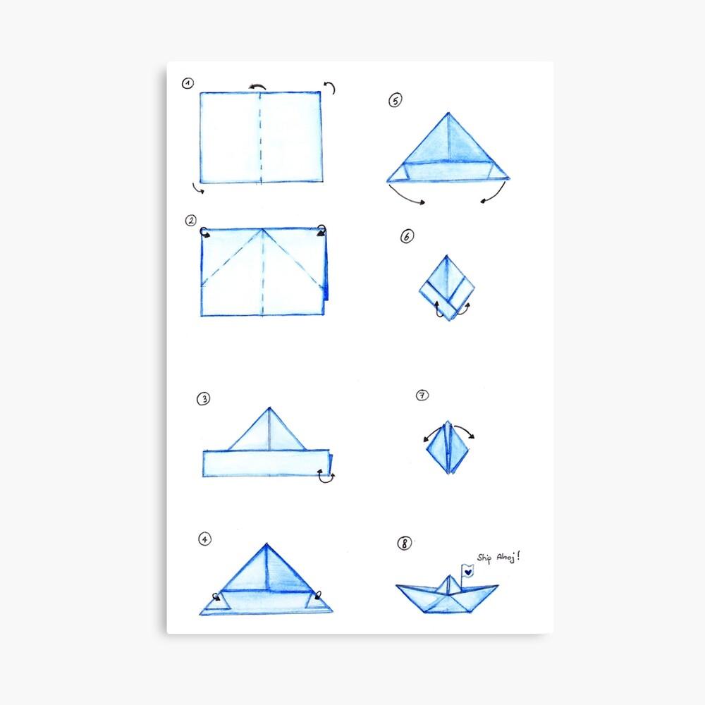 origami-boat-video.jpg (1650×2337) | Origami boat instructions ... | 1000x1000