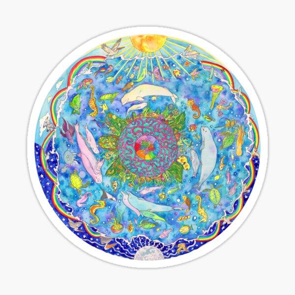 The OCEAN mandala Sticker