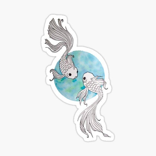 Pisces fish watercolor illustration Sticker