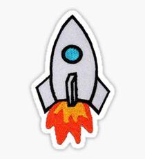 Rocket Ship Patch Sticker