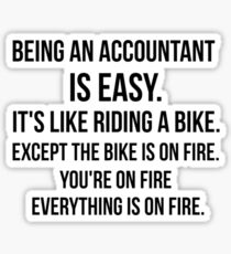 Being an Accountant Sticker