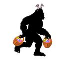 BIGFOOT SASQUATCH Silly Funny Easter Sunday Big Foot Hip Gift Trendy GONE SQUATCHIN' by starkle
