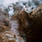 Aerial of Kerlingarfjoll mountain range in Iceland  by Michael Schauer