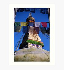 reflect. kathmandu valley, nepal Art Print