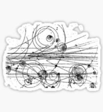 particle tracks Sticker