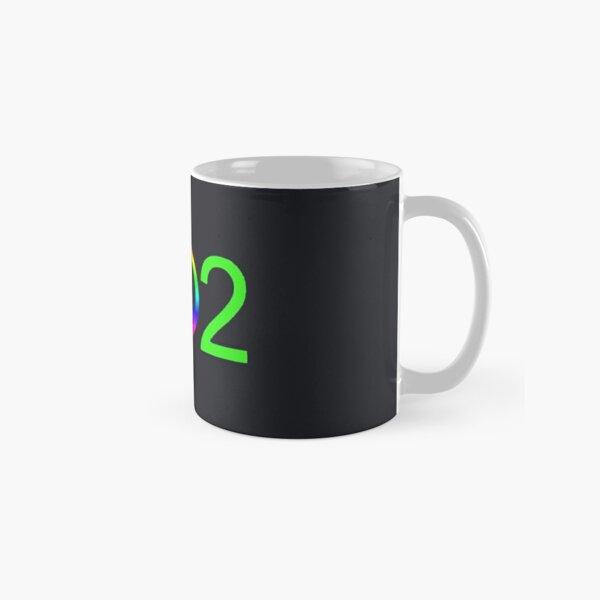 Vermont 802 Neon Green Peace Area Code Classic Mug