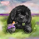 Newfie and Fairy by Patricia Reeder Eubank