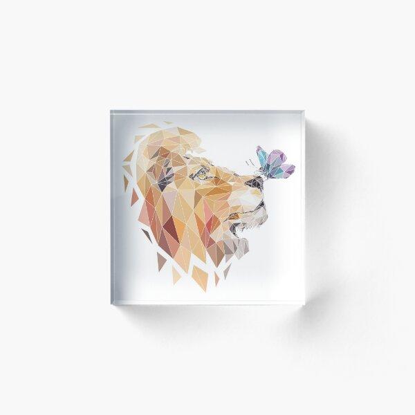 polygonal lion Acrylic Block