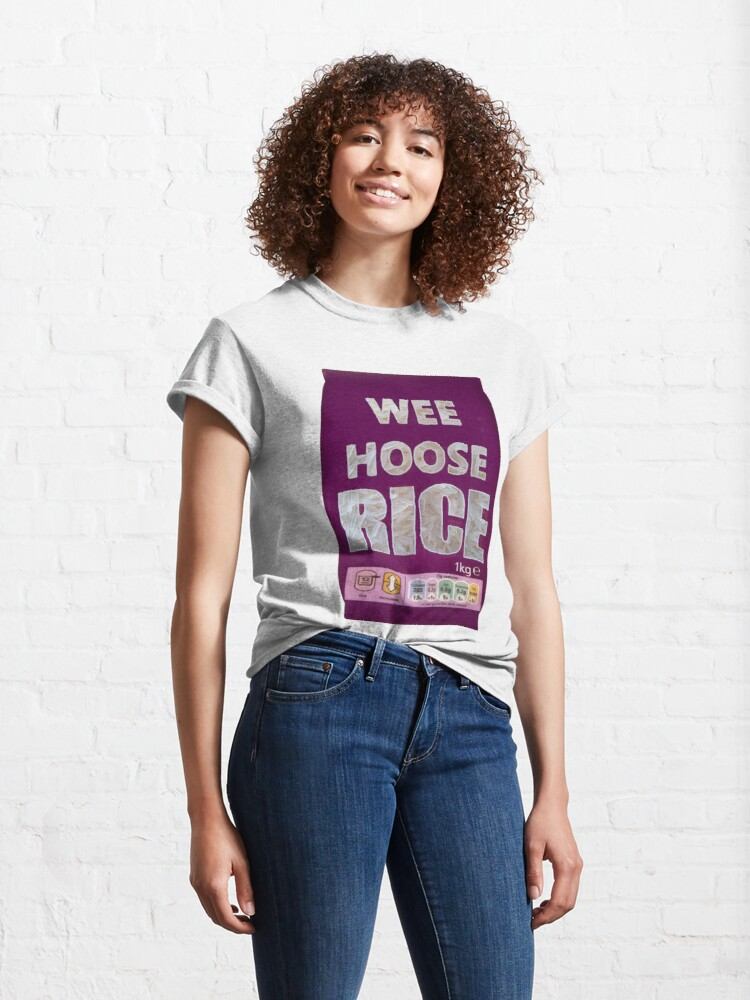 Alternate view of Wee Hoose Rice  Funny  Kevin Bridges Scottish Scotland Classic T-Shirt
