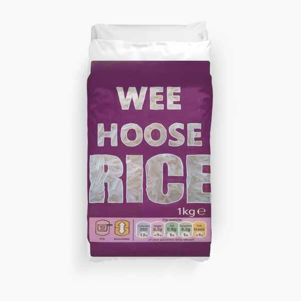 Wee Hoose Rice  Funny  Kevin Bridges Scottish Scotland Duvet Cover