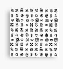 Adinkra Symbols From West Africa Canvas Print