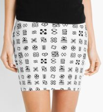Adinkra Symbols From West Africa Mini Skirt