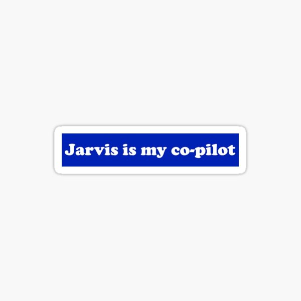 Jarvis Co-Pilot Sticker