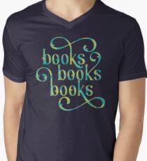 Books Books Books Men's V-Neck T-Shirt