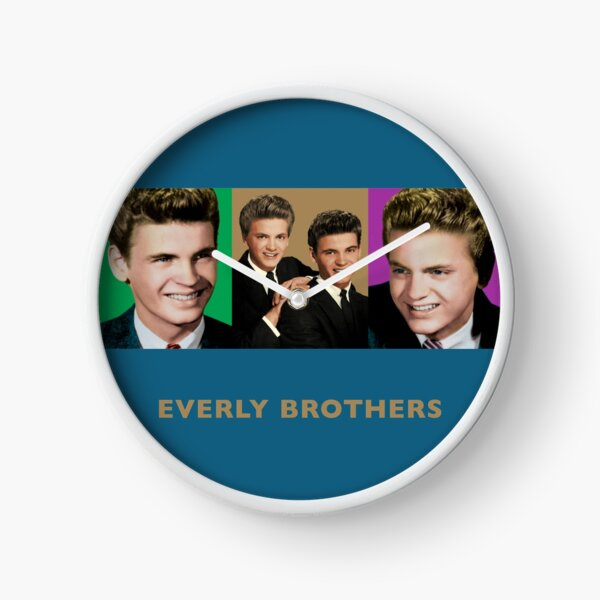 Everly Brothers - Triptych Designs Clock