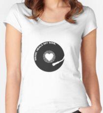 "Musically t-shirt vinyl music design ""Music heals my soul"" Women's Fitted Scoop T-Shirt"