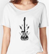 "Musically t-shirt rock guitar design ""Rock is freedom"" Women's Relaxed Fit T-Shirt"