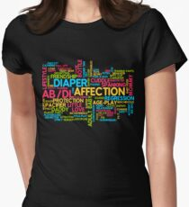 AB/DL words cloud Women's Fitted T-Shirt