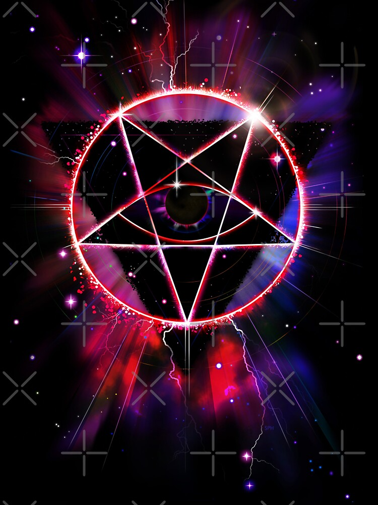Space Demon 2049 - Evil Synthwave Sigil by forge22