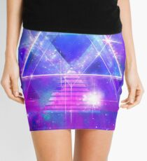 Space Vector 3 - Synth Galactic Vaporwave Mini Skirt