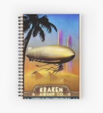 Steampunk Airship: Pharaoh's Glory Spiral Notebook
