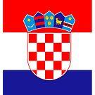 Hrvtatski Flag Crest by stoopiditees