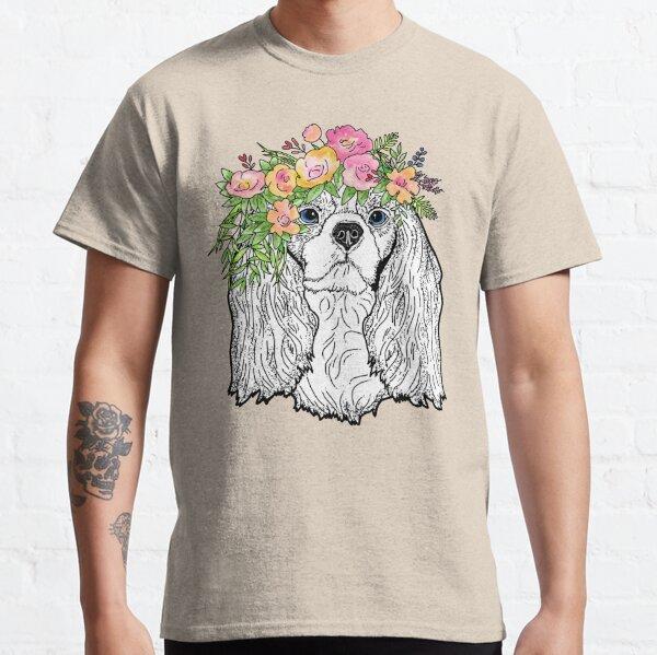 Cavalier King Charles Spaniel - Florals Classic T-Shirt