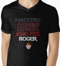 Maestro Federer Express King Fed Roger Men's V-Neck T-Shirt