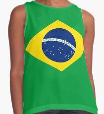 Brazil Flag Contrast Tank