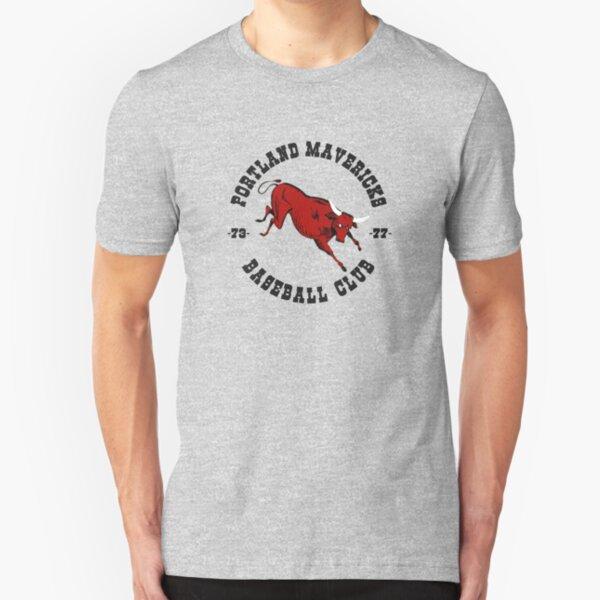 Portland Mavericks Baseball Club Shirt Retro Vintage 70s TBT Slim Fit T-Shirt