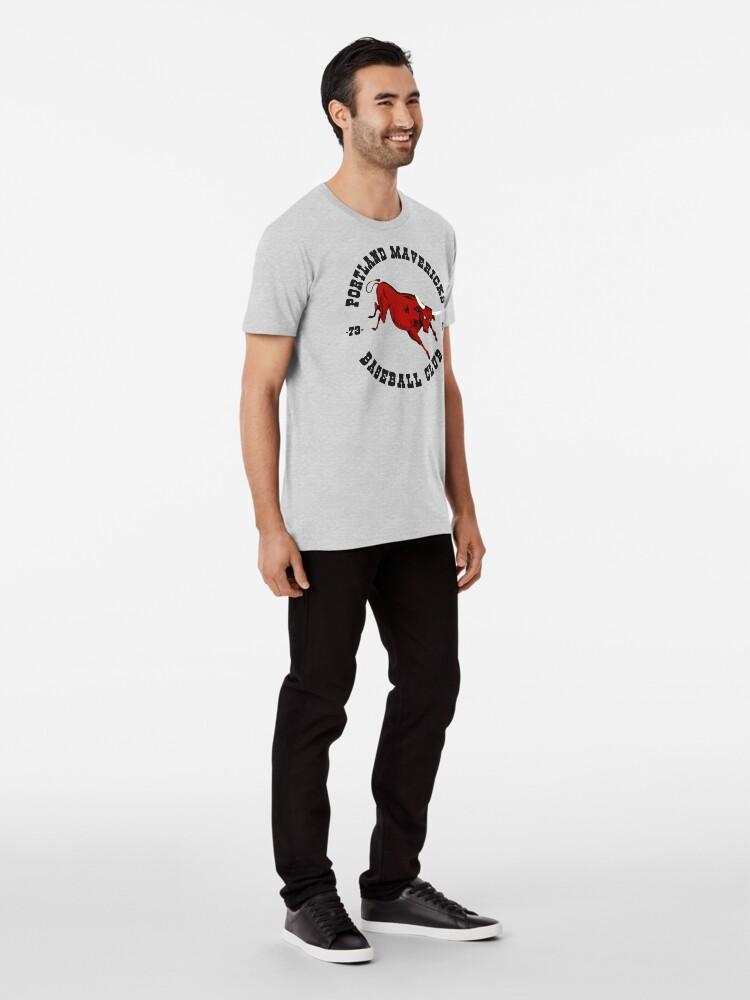 Alternative Ansicht von Portland Mavericks Baseball-Verein-Hemd 70s Retro Vintage TBT Premium T-Shirt