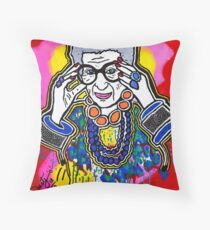 The Iris Apfel Merchandise Collection by Dusty O Throw Pillow