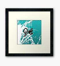 BMX Pop Art Blue Framed Print